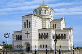 picture of sevastopol  - The Vladimir cathedral in Sevastopol on territory of Chersonesos - JPG