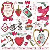 Valentine day,wedding frame,decor elements set