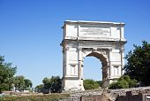 stock photo of spqr  - The Arch of Titus is a 1st - JPG