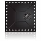 pic of vault  - Security vault dark door with reflex for the bank - JPG