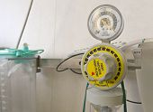 stock photo of vacuum pump  - oxygen inhalation apparatus at the hospital room - JPG