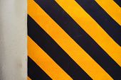 Stripe Sign For Parking Slot In Building
