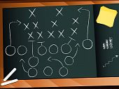 Vector Teamwork Football Game Plan Strategie