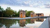 The Temple Of Debod In Madrid