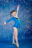 Girl Doing Gymnastics Excercises