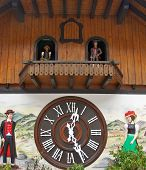 image of pendulum clock  - The largest cuckoo clock in the world in Triberg - JPG
