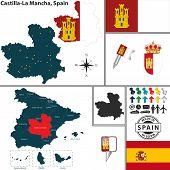 Map Of Castilla-la Mancha, Spain