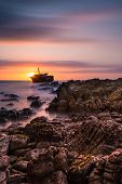 pic of shipwreck  - A Long exposure sunset at the Meisho Maru shipwreck - JPG