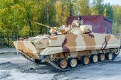 Combat reconnaissance vehicle BRM-3K in motion