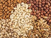Nut mix background
