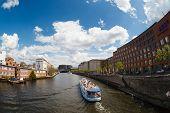 Ship On The River Spree In Berlin