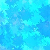 Blue Leaf Shadow Pattern