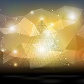 image of triangular pyramids  - Abstract 3D pyramid - JPG