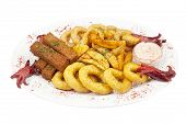 image of collate  - Assorted hot snacks - JPG