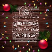 Christmas typography for your winter holidays design. Realistic