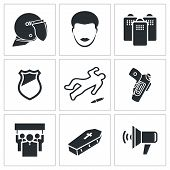 picture of disobedient  - Vector Isolated Flat Icons collection on a white background - JPG