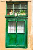Window With Green Frame