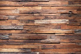 stock photo of wooden fence  - timber wood panel plank wall texture background - JPG