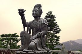 foto of moral  - six bronze statues known as  - JPG