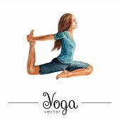 image of yoga  - Vector yoga illustration - JPG