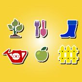 foto of horticulture  - set of color icons with Horticulture for your design - JPG