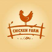 stock photo of poultry  - Vector logo - JPG