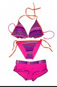 stock photo of one piece swimsuit  - Bright fashionable swimsuit - JPG