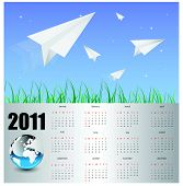 modern business calendar for 2011.