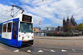 stock photo of tram  - Amsterdam - JPG