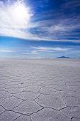 image of octahedron  - Uyuni salt flat in Bolivia  - JPG
