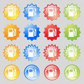 image of petrol  - Petrol or Gas station Car fuel icon sign - JPG