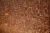 foto of hieroglyph  - Egyptian hieroglyphs on the wall - JPG