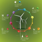 pic of wind-power  - Wind power plant vector image - JPG