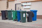 stock photo of waste disposal  - Household  waste waiting to be taken away - JPG