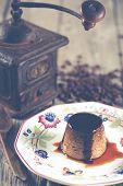 pic of custard  - Egg custard with coffee made with fresh produce  - JPG