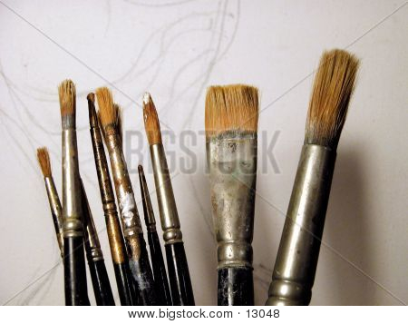 Painting Brushes poster
