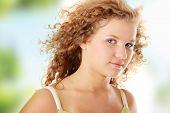 Beautiful teen pudgy caucasian girl