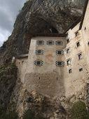 Predjama Castle Sunny Below Perspective
