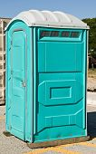 pic of movable  - Movable outdoor toilet known as a port - JPG