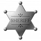 Escudo do xerife do vetor