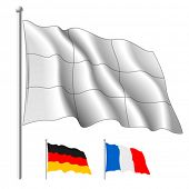 Vector white flag. Contents horizontal and vertical separate parts. Change it color like you need and make it Multiply.