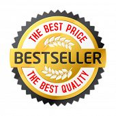 Bestseller emblem. Vector.