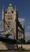 The famous landmark of London: the Tower Bridge and the Themes.