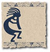pic of iroquois  - the vector mayan and inca tribal on old paper eps - JPG