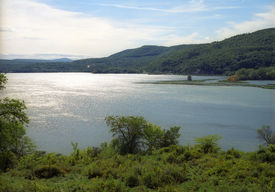 stock photo of ticonderoga  - view of hudson river from fort ticonderoga ny - JPG