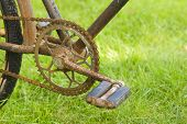 Pedal Of Old Bicycle