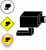closed circuit television system security camera symbol sign and button