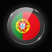 Portugal National Flag. Application Language Symbol. Country Of Manufacture Icon. Round Glossy Isola poster