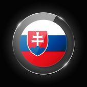 Slovakia National Flag. Application Language Symbol. Country Of Manufacture Icon. Round Glossy Isola poster