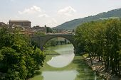 Fossombrone (pesaro E Urbino, Marches, Italy) - Bridge And River